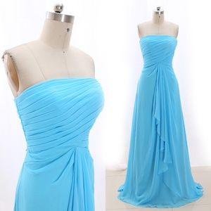 Dresses & Skirts - Strapless Long Prom Formal Dress Bridesmaid Gown